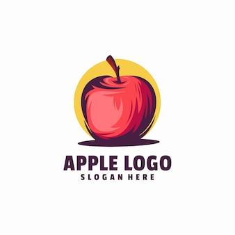 Szablon logo jabłko