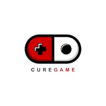 Szablon logo joysticka konsoli do gier