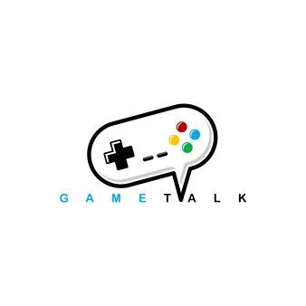Szablon logo joysticka na konsolę do gier wideo