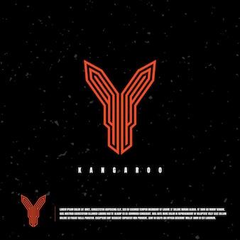 Szablon logo kangura