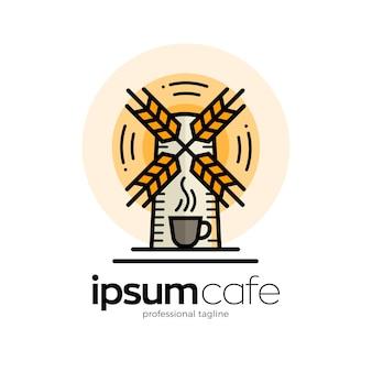 Szablon logo kawiarni kawy