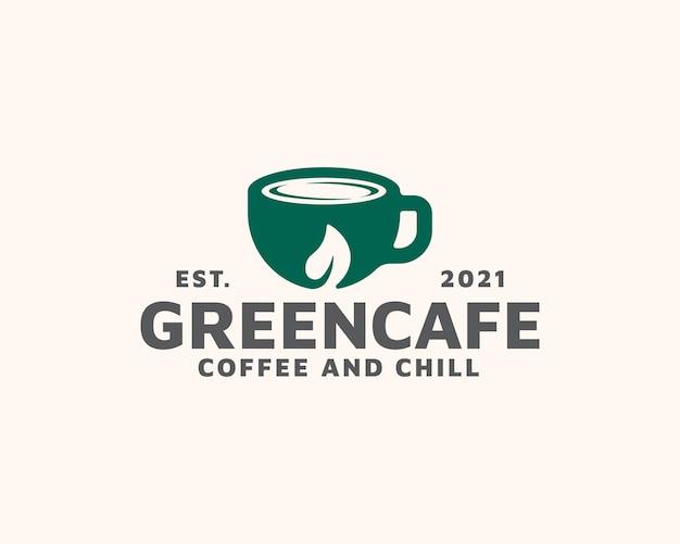 Szablon logo kawiarni laef kubek