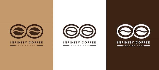 Szablon logo kawy infinity