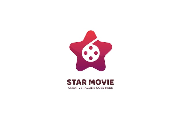 Szablon logo kinematografii gwiazd filmowych