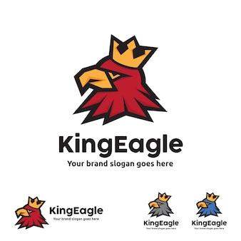 Szablon logo king eagle