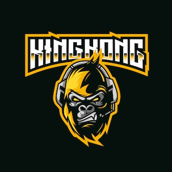 Szablon logo kingkong