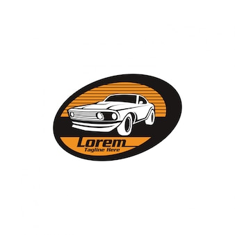 Szablon logo klasycznego samochodu samochodowego