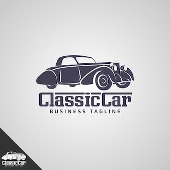 Szablon logo klasycznego samochodu