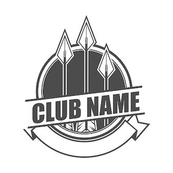 Szablon logo klubu strzałek