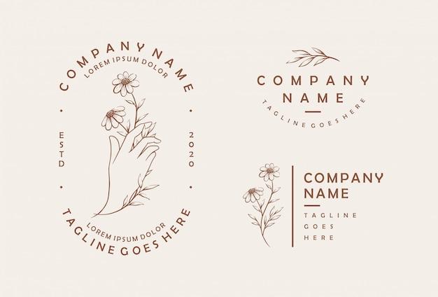 Szablon logo kobiecy kwiat