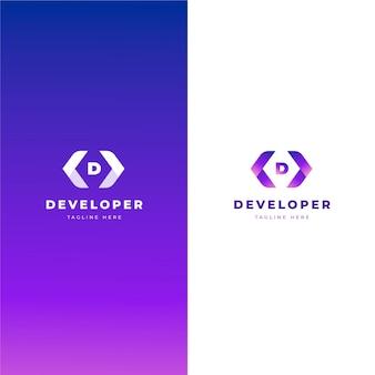 Szablon logo kodu gradientu