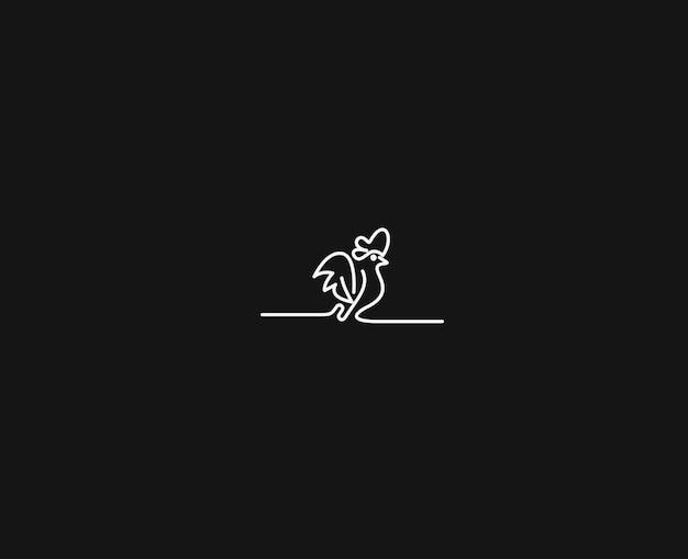 Szablon logo koguta absstarct (kura). ilustracja wektorowa.