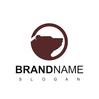 Szablon logo koła miś