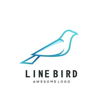 Szablon logo koliber gradient line art kolorowe logo