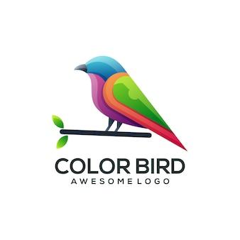 Szablon logo koliber prosta maskotka kolorowe logo