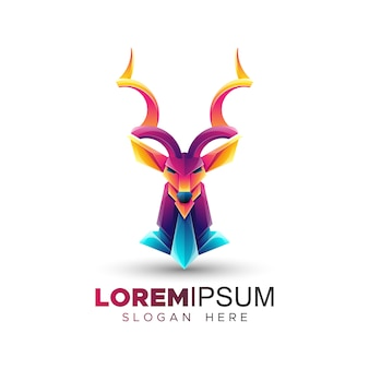 Szablon logo kolorowe antelop