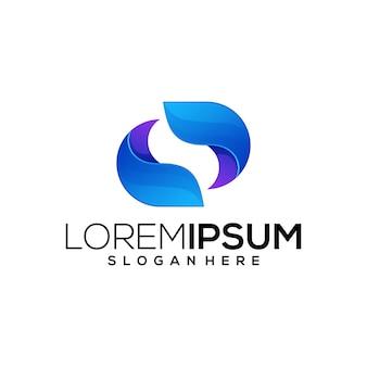 Szablon logo kolorowe dane internetowe