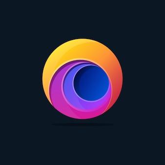 Szablon logo kolorowe koła