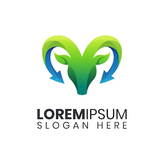 Szablon logo kolorowe koza natura