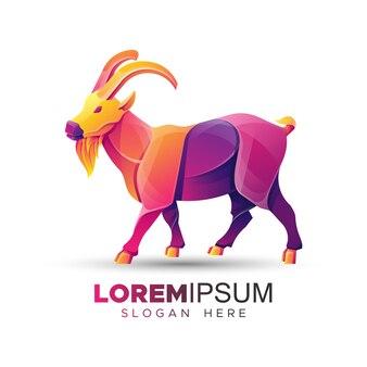 Szablon logo kolorowe kozy górskie
