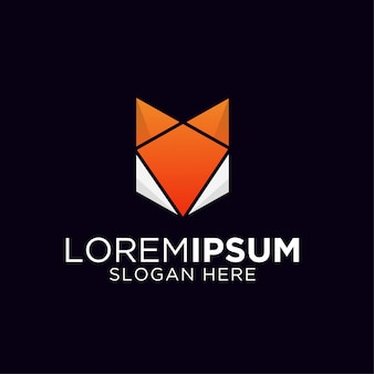 Szablon logo kolorowe lis gradientu
