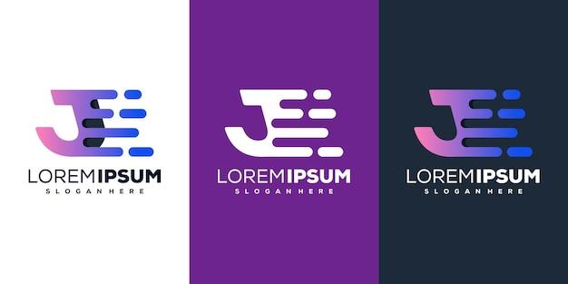 Szablon logo kolorowe litery j tech