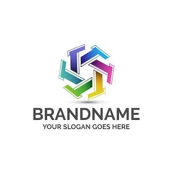 Szablon logo kolorowe litery t.