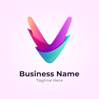 Szablon logo kolorowe litery v.