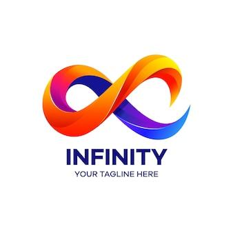 Szablon logo kolorowe nieskończoności