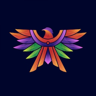 Szablon logo kolorowe orła