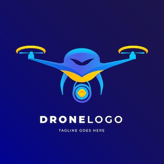 Szablon logo kolorowy drone