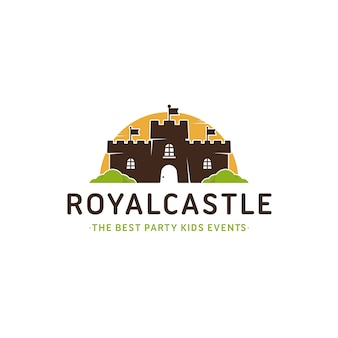 Szablon logo kolorowy zamek