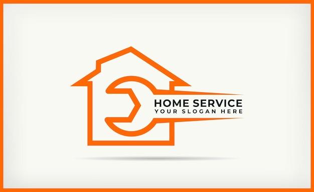 Szablon logo kombinacji domu klucza