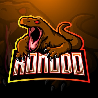 Szablon logo komodo dragon esport