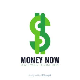 Szablon logo koncepcja pieniądze