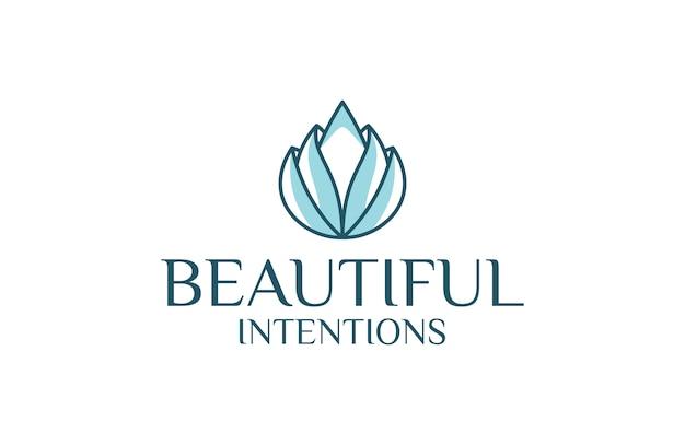Szablon logo konspektu kwiat