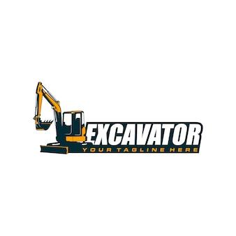 Szablon logo koparki