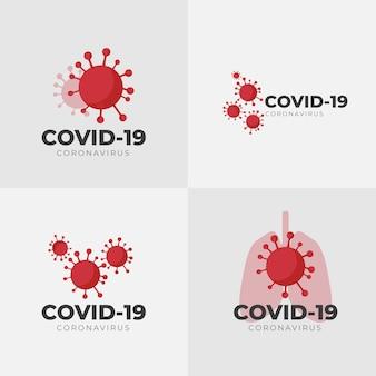 Szablon logo koronawirusa
