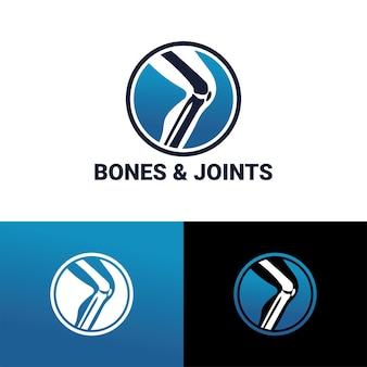 Szablon logo kości i stawów wektor premium