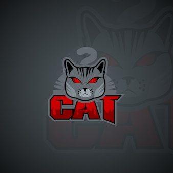 Szablon logo kota. grafika wektorowa wysokiej rozdzielczości