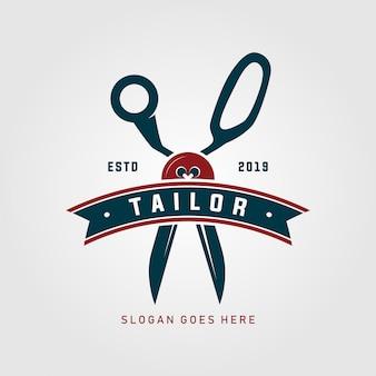 Szablon logo krawiec nożyczki