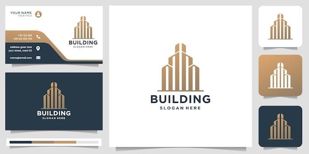Szablon logo kreatywnego budynku. logo budowlane, nieruchomości, nowoczesny dom, budowa, architektura.