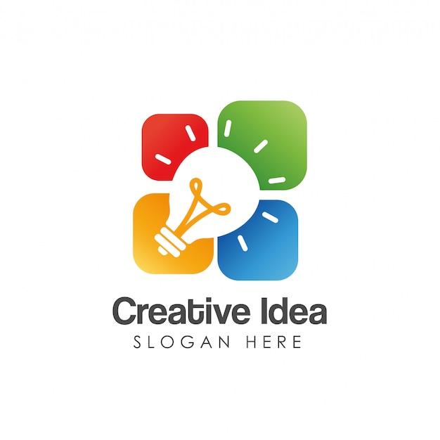 Szablon logo kreatywnego pomysłu