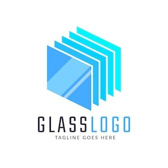 Szablon logo kreatywnego szkła płaskiego