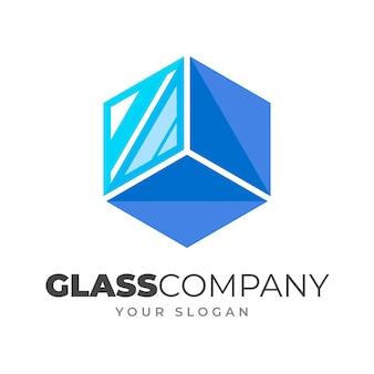 Szablon logo kreatywnego szkła