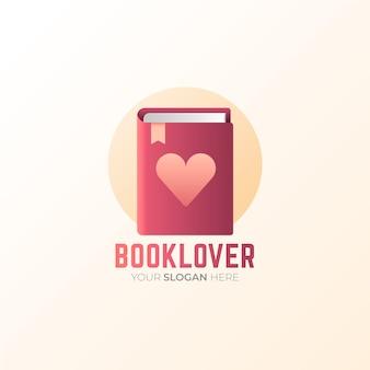 Szablon logo kreatywnych książek gradientu