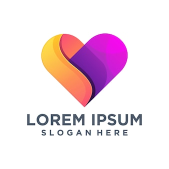 Szablon logo kreatywnych miłości