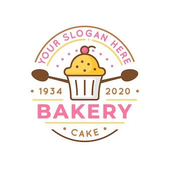 Szablon logo kreatywnych piekarnia