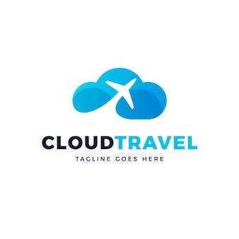 Szablon logo kreatywnych podróży