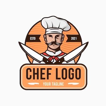 Szablon logo kreatywnych szefów kuchni